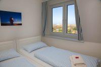Ausblick Schlafzimmer - Ferienwohnung Hiasdääl